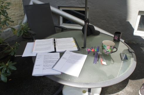 Studying outside