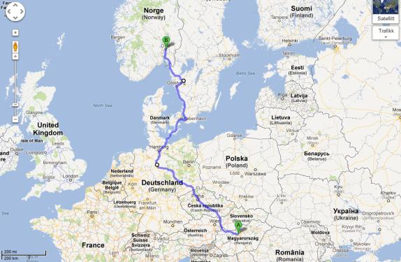 Skjalg and Kaja: Trip from Budapest to Oslo