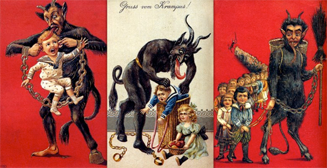 Not so sure I'd want to run into Krampus...