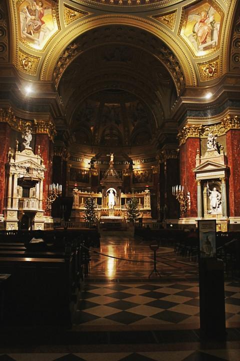 Inside basilica
