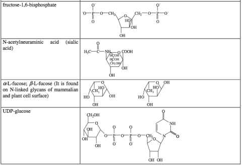 carbohydrate derivatives sample