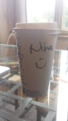 My starbucks alias. I never get asked my name and my cup has said Nina two days in a row now.
