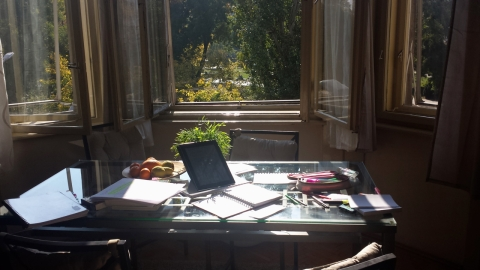 Quite the sunny study spot I've got there! Such a treat B)