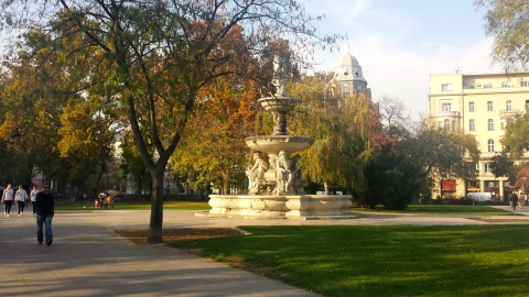 Shot from the beautiful park outside our apartment. Fall is in it's prime!