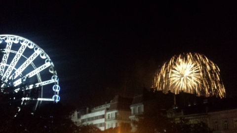 View of the fireworks on August 20th from the comfort of our dining area