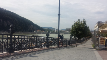 ...which we enjoyed while looking out over the Danube.