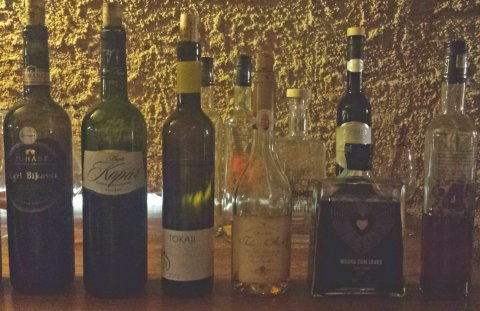 Second half of our wine flight. Was such an amazing experience to try these fantastic Hungarian wines in such an old, charming cellar.