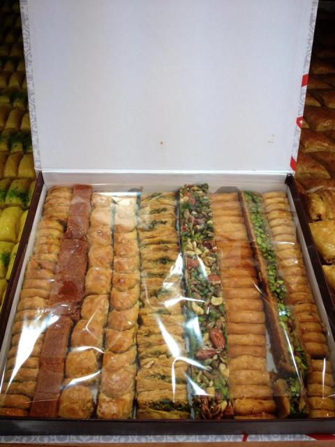From the facebook page of Alwaleed sweets. Didn't manage to take a picture of the goodie box before we dove in!