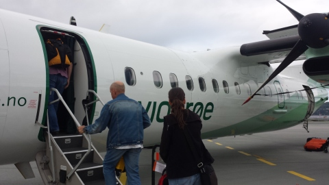 Our tiny plane from Trondheim to Bodø. Had never been on one this small before!