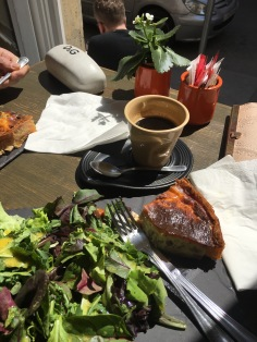 Lunch at the little French bakery near the library