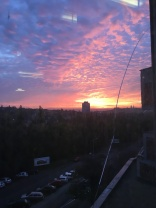Gorgeous sunrise from the hospital I'm doing my internal medicine rotation in