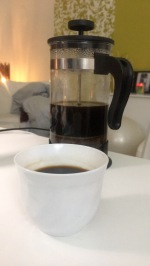 Arabic coffee (in a French press..... :/ )