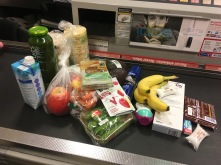 Grocery haul for exam day! Hard to pick what to get when you have no idea how you are going to feel...