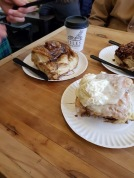 Giant cinnamon buns in Minneapolis