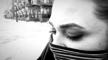 Frozen eyelashes in Minneapolis